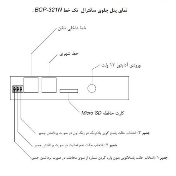 سانترال و تلفن گویا BCP-321N (همراه با مموری )